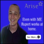 Even with ME Rupert works from home with Arise